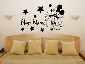 Mickey Mouse Custom Personalised Disney Name Bedroom Decal Wall Sticker Picture