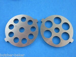2 pc SET Meat Grinder plate for new style FGA KitchenAid Mixer Food Chopper $16.25