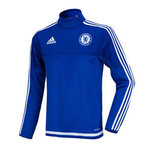 Adidas Men's Chelsea FC Training Sweat Top Shirts S12069 WITH Free Tracking