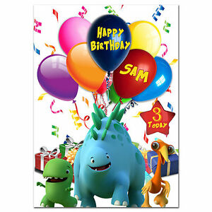725; Personalised Birthday card; Dinopaws ; for any name;to any age relationship