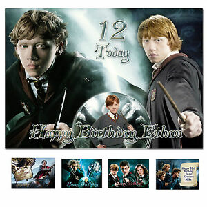 Harry Potter Birthday card; Any age name relationship; for little or big (d756)