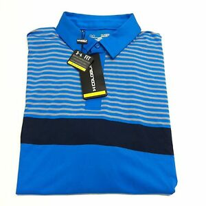 Under Armour Mens Coldblack Forged Golf Polo Loose Fit Gear 1253471-522 Blue XL