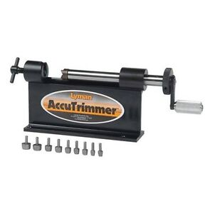New Lyman Accutrimmer Case Trimmer For Reloading with 9-Piece Pilot Pack 7862210