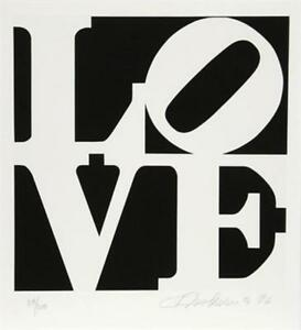 Splendid Robert Indiana The Book Of Love 1, 1996 Limited Edition Hand Signed