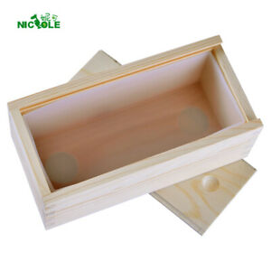 Loaf Soap Mold Rectangle Silicone Molds with Wooden Box Swirl Making Tools Mould