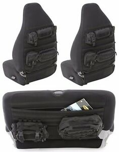Smittybilt GEAR MOLLE Front & Rear Seat Covers For 2003-2006 Jeep Wrangler TJ LJ