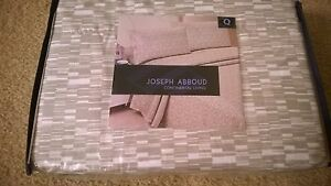 4PC QUEEN SHEET SET TAN/WHITE byJOSEPH ABBOUD CONTINENTAL LIVING