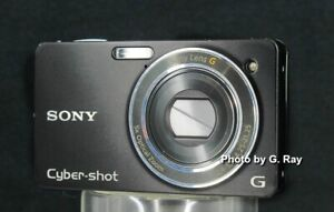 SONY DSC-WX1 BLACK RECONDITIONED DIGITAL CAMERA-SHARP CLEAR PICTURES-WARRANTY