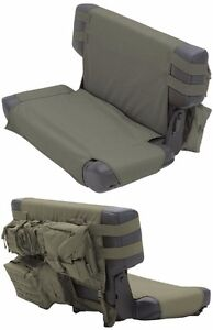 Smittybilt GEAR MOLLE Rear Seat Cover And Pouches For 76-06 Jeep CJ And Wra