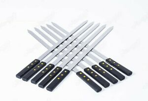 BARBECUE FLAT WIDE SKEWER STAINLESS KEBAB KABOB KAFTA KHOROVATS SHASHLIK MECHOUI