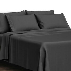 4 Piece Bed Sheet Set 1800 Count Egyptian Comfort Deep Pocket Hotel Bed Sheets $17.99