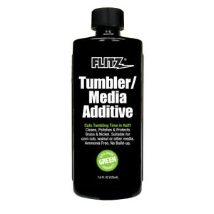 Flitz TumblerMedia Additive (7.6 oz Bottle) BrassNickel Metal CleanerPolish