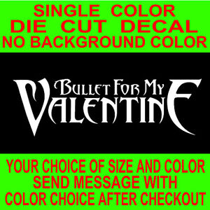 Bullet For My Valentine Band Rock Music vinyl decal car truck window laptop