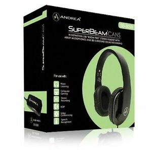 Andrea SuperBeam CANS High Definition Stereo Headphones with Microphone
