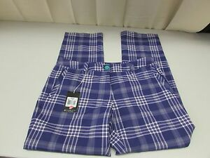Nike Women's Golf Pans in Indigo Plaid Size 12 Regular