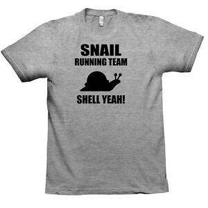 Snail Running Team Womens American Apparel Tee T-Shirt Funny Sport TS347