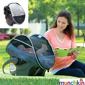 Pop Up Sun/Rain/Insect Net Shade Canopy Cover FOR Infant Carrier/Car Seat in Bag