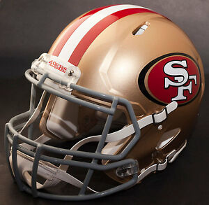 SAN FRANCISCO 49ers NFL Authentic GAMEDAY Football Helmet w S2BD-SP Facemask