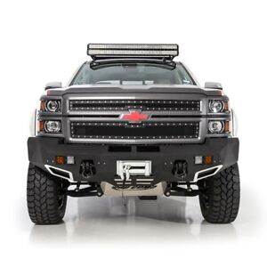 Smittybilt Front D-Ring Bumper & LED Lights For 2014-2015 Chevy Silverado 1500