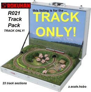 rokuhan z scale r021 track set for briefcase
