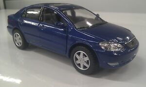 toyota corolla blue toy model 1 36 scale diecast