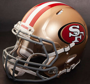 SAN FRANCISCO 49ers NFL Authentic GAMEDAY Football Helmet w S2BD Facemask