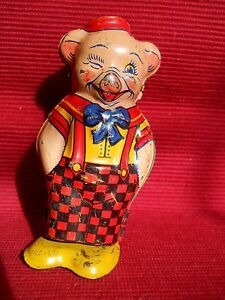 1940s tin wind up pig tin litho not working