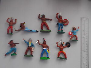 soviet era toy soldiers 9 indian elastolin figure