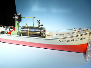 victoria luise steam powered tinplate boat by