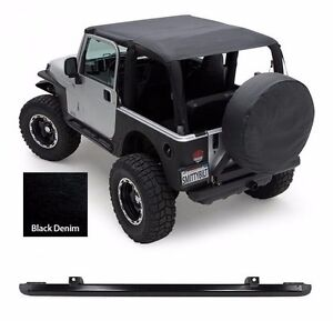 Smittybilt Extended Top And Windshield Channel For 1997-2006 Jeep Wrangler TJ