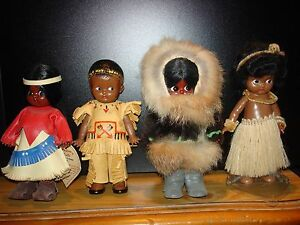 carlson knickerbocker doll lot of 5 leather