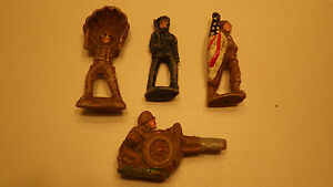 lot of 4 vintage composite soldiers playwood
