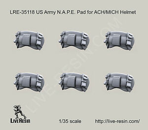 Live Resin 1:35 US Army N.A.P.E. Pad for ACHMICH Helmet LRE35118*
