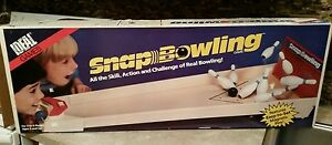 vintage 1986 ideal snap bowling game no 7095