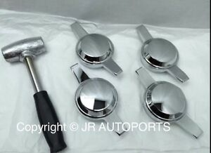 4 Zenith 2 Bar 2 Way Smooth Knock Offs Spinners Chrome Wire Wheel Lead Hammer