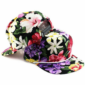 Agora Floral Fresh Prince Snapback Hat Rope 5 panel tropical hawaiian NEW