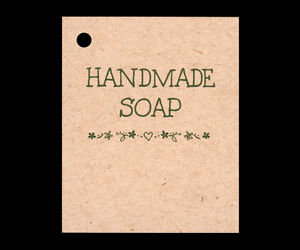 50 *HANDMADE SOAP* HANG TAGS PERSONALIZE ITEMS PRICE CRAFTS GIFT KRAFT $5.95