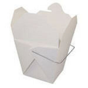 25 WHITE Pint Chinese Take Out Box 16 oz Food Pail Party Favor Wedding Candy