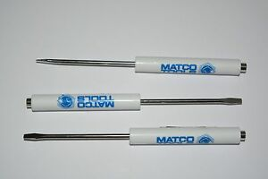 PROMOTIONAL MATCO TOOLS POCKET FLAT SCREWDRIVER WITH MAGNET TOP  TOOL 3 PACK NEW