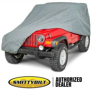 Smittybilt Full Climate Cover With Lock & Bag For 1976-2006 Jeep CJ And Wrangler