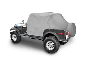 Smittybilt Custom Fit Cab Climate Cover w/ Door Flaps For 87-91 Jeep Wrangler YJ