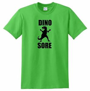DINO SORE T shirt funny dinosaurs workout athletic crossfit exercise cool gym t $9.99