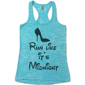 Marathon Shirt. Tank Tops For Women. Run Like It's Midnight Tank. Disney.