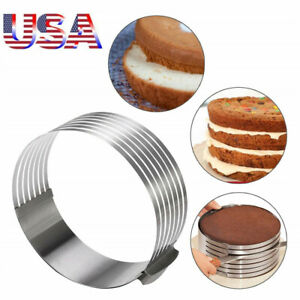 Stainless Steel Round Mousse Cake Slicer Ring Mold Layer  Cutter Baking Tool