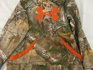 Youth Large Under Armour hoodie sweatshirt realtree camo 6310