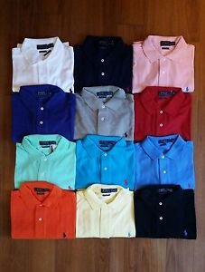 Men Polo Ralph Lauren Mesh Polo Shirt Size S M L XL XXL - CLASSIC FIT - NWT