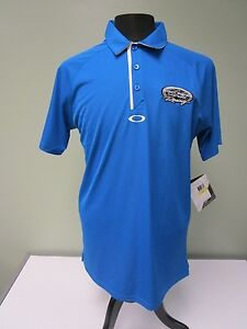 Sarah Fisher Hartman Racing Shirt Polo Oakley Regular Fit Blue Mens Size M Nwt