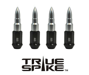 32PC VMS RACING 89MM 14X1.5 FORGED STEEL LUG NUTS W SILVER EXTENDED BULLETS