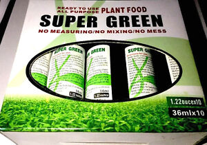 Super Green Lucky Bamboo Fertilizer Plant Food High Quality 10 bottles Imported
