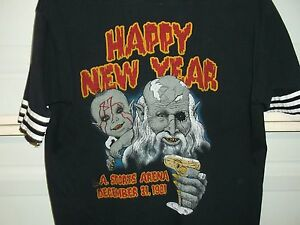 OZZY OSBOURNE 1981 RARE NEW YEARS EVE VINTAGE CONCERT T-SHIRT LA SPORTS ARENA LG